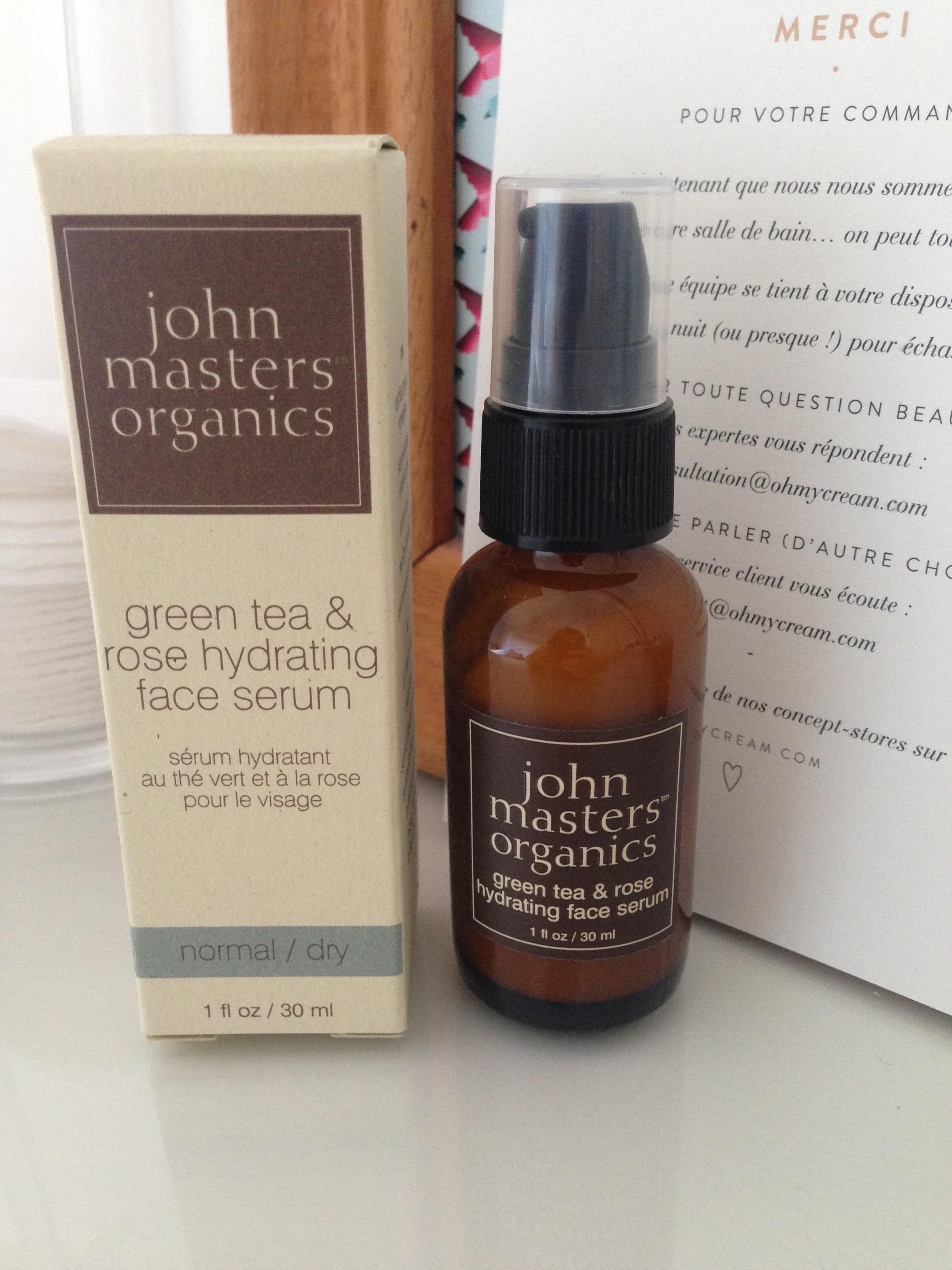 serum green tea rose hydrating john masters organics