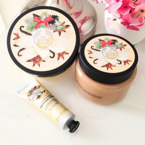 the body shop collection de noël 2016 vanilla chaï