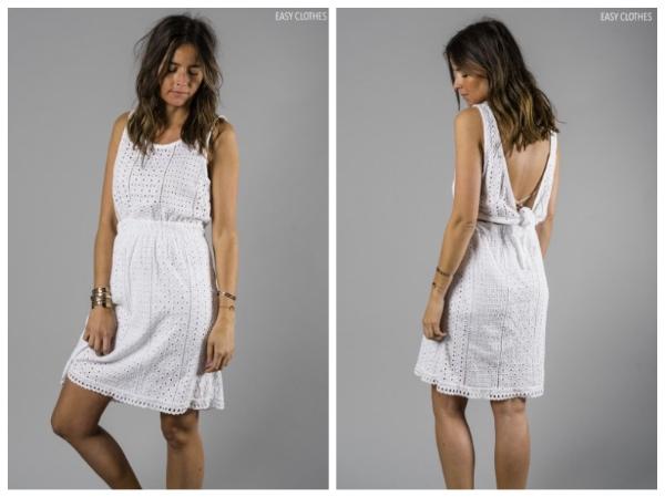 9 petites robes blanches parfaites pour l'été et à moins de 40 euros : robe Nora Easyclothes