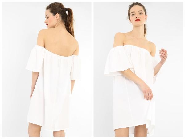 9 petites robes blanches parfaites pour l'été et à moins de 40 euros : robe popeline Pimkie