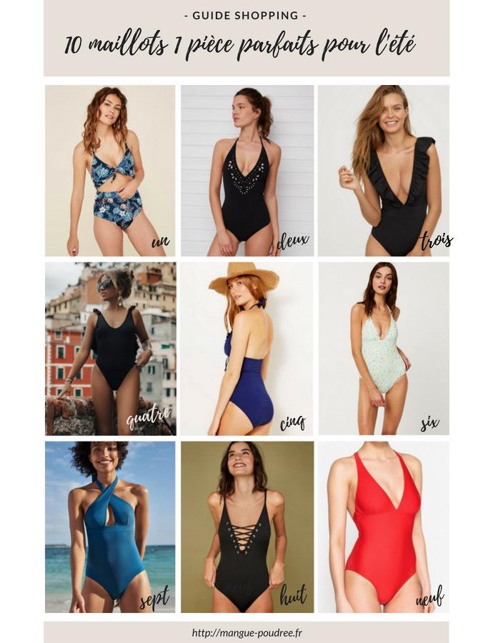 10 maillots de bain 1 pièce parfaits pour l'été - Blog Mangue Poudrée