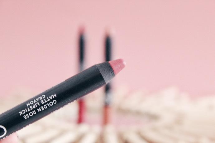 Avis Crayons Matte Lipstick de Golden Rose - Blog Mangue Poudrée - Blog beauté & lifestyle à Reims - 03