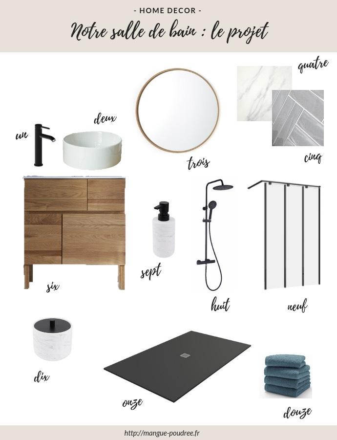 Notre salle de bain - le projet - Blog Mangue Poudrée - Blog beauté, mode et lifestyle à Reims & Paris - Inspirations déco - 01