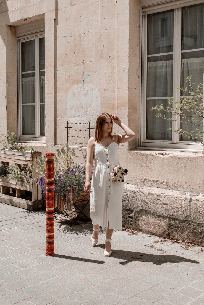 Must have été 2019 robe longue en lin blanche espadrilles castaner - Blog Mangue Poudrée - Blog beauté et mode à reims blogueuse influenceuse instragrammeuse - 10