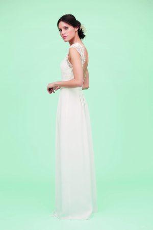Robe de mariée en soie et dentelle Lorafolk