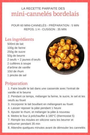 recette de cuisine mini-cannelés