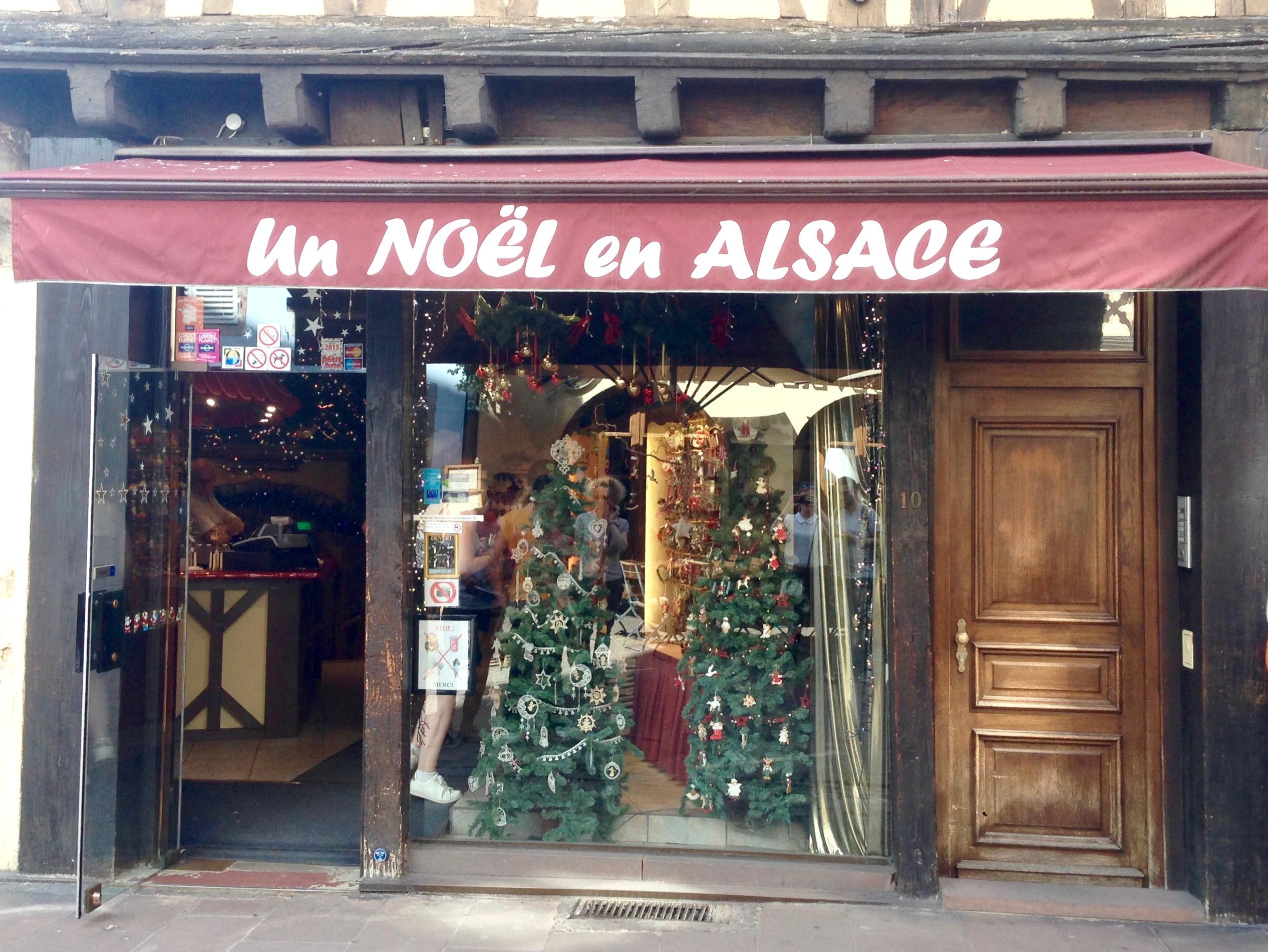 boutique un noël en Alsace