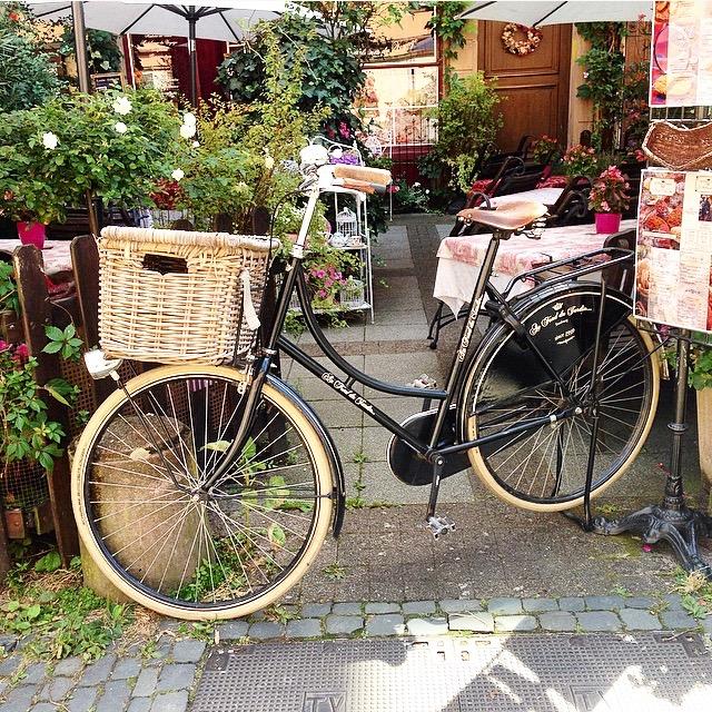 Strasbourg, Au fond du jardin, Terrasse, Vélo, Entrée