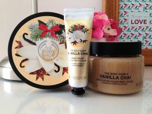 the body shop collection de noël 2016 vanilla chaï