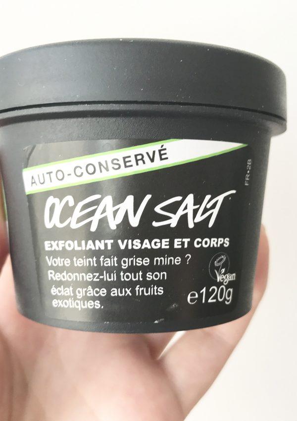 Ocean salt de Lush : un gommage frais et vitaminé