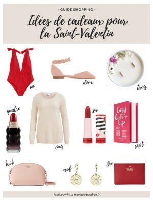 Guide shopping // idées de cadeaux pour la saint-valentin 2018 pour elle // blog Mangue Poudrée