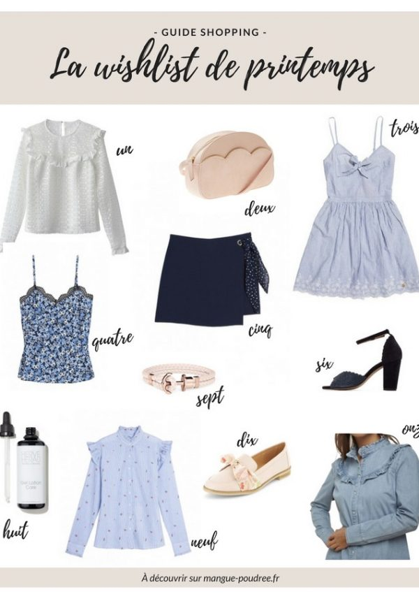 La wishlist de printemps, avril 2018