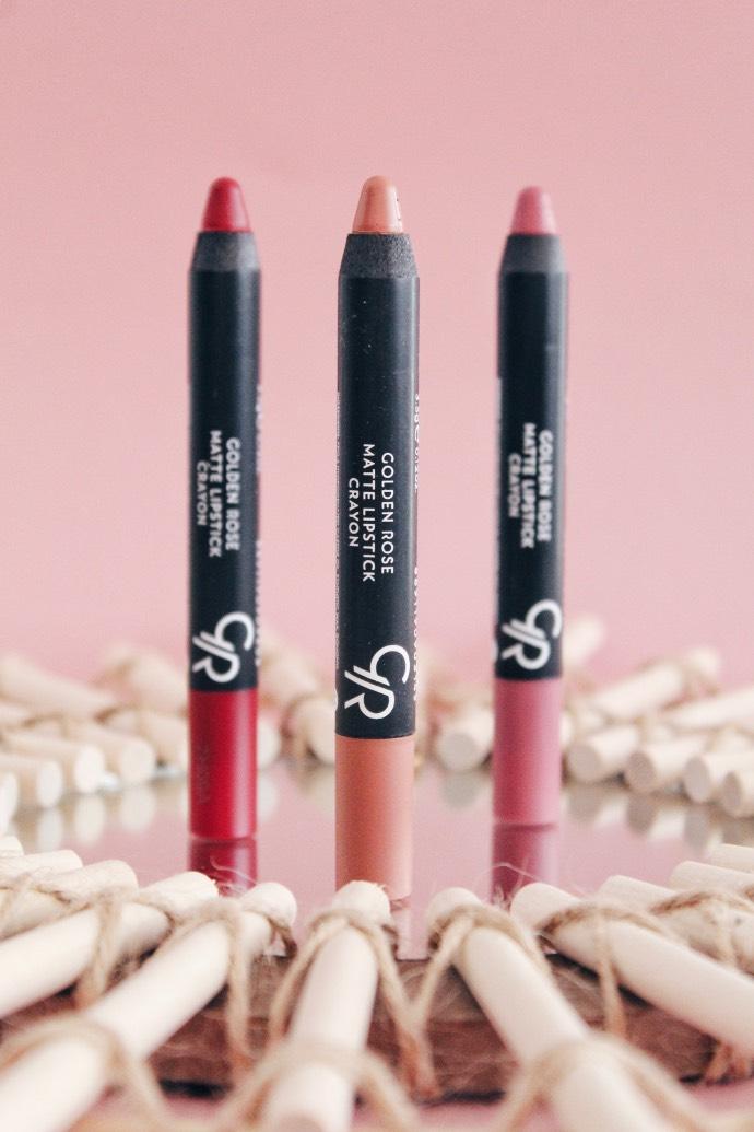 Avis Crayons Matte Lipstick de Golden Rose - Blog Mangue Poudrée - Blog beauté & lifestyle à Reims - 02