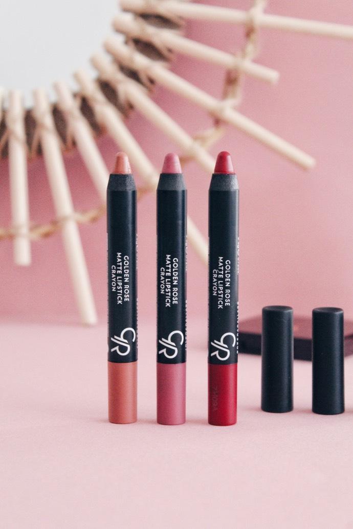 Avis Crayons Matte Lipstick de Golden Rose - Blog Mangue Poudrée - Blog beauté & lifestyle à Reims - 01
