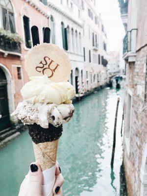 Bonnes adresses à Venise - Glacier Suso - Gelato - Mangue Poudrée - Blog Beauté, voyage et lifestyle à Reims - 01