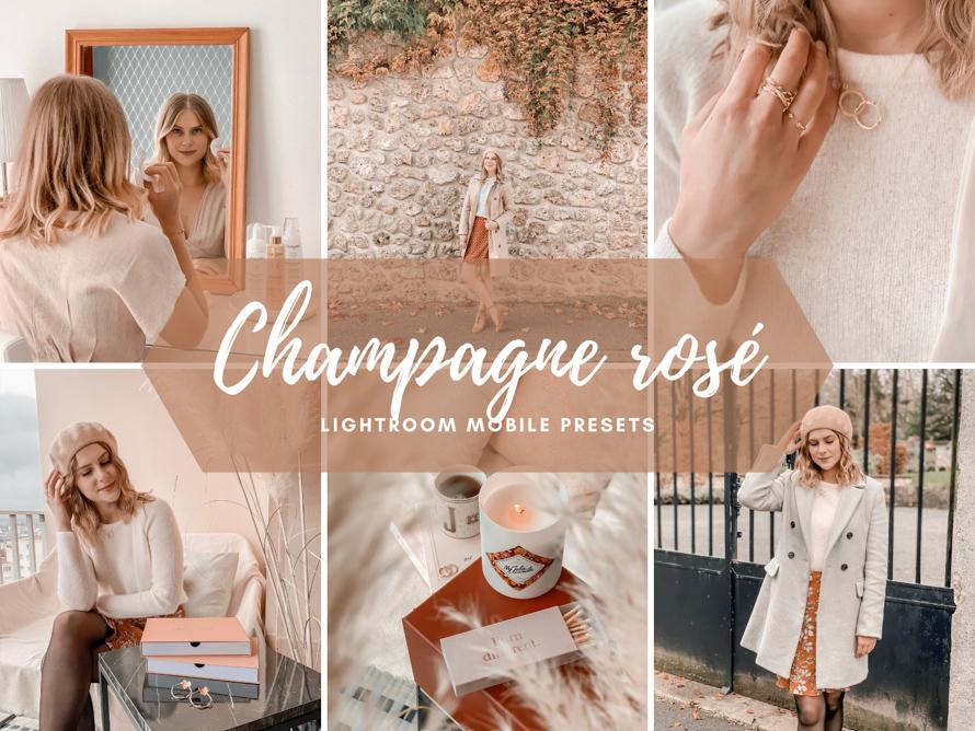 Champagne rosé lightroom mobile preset