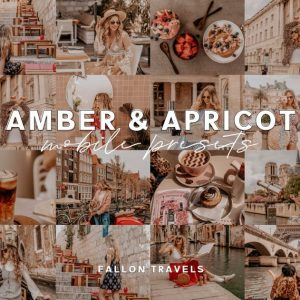 preset lightroom amber and apricot