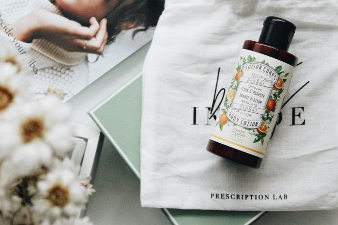 Avis Prescription Lab mars 2019 - Blog Mangue Poudrée - Blog beauté & lifestyle à Reims 03 lotion pour le coprs fleur d'oranger panier des sens