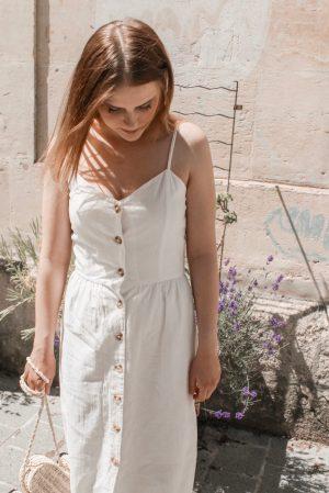 Must have été 2019 robe longue en lin blanche espadrilles castaner - Blog Mangue Poudrée - Blog beauté et mode à reims blogueuse influenceuse instragrammeuse - 08
