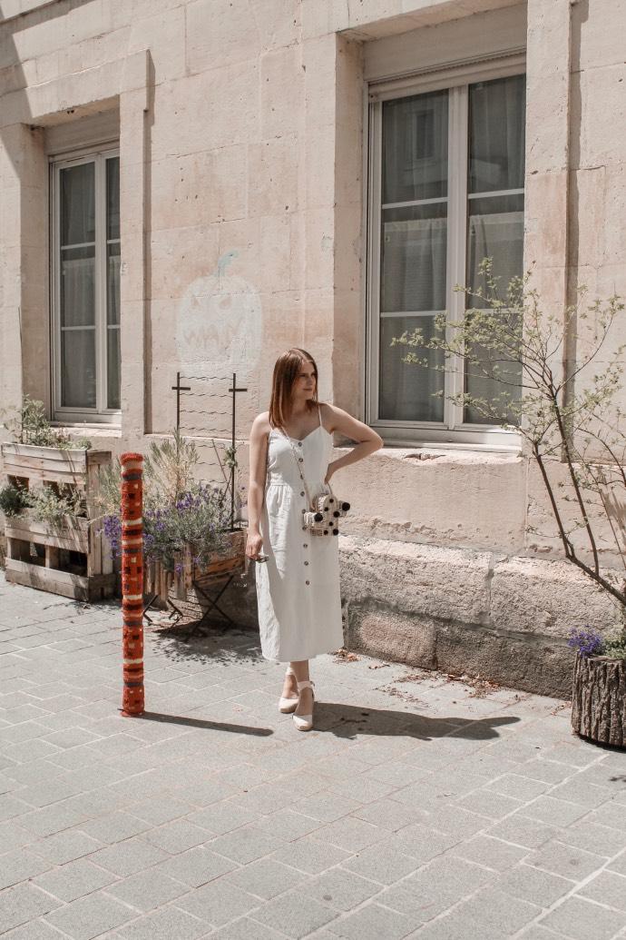 Must have été 2019 robe longue en lin blanche espadrilles castaner - Blog Mangue Poudrée - Blog beauté et mode à reims blogueuse influenceuse instragrammeuse - 09