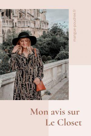 Avis Le Closet louer ses vetements dressin infini et eco-responsable - Blog Mangue Poudrée - Blog mode et lifestyle à reims influenceuse - Pinterest 01