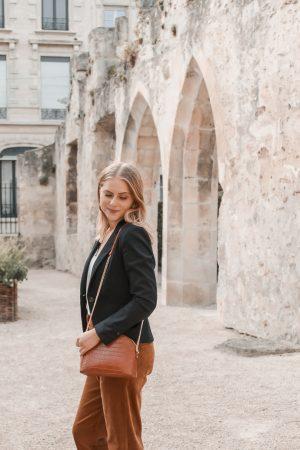 Comment porter le velours côtelé ? - 3 façons de porter le velours côtelé en automne avec 3 idées de looks facile à reproduire - Blog Mangue Poudrée - Blog mode et lifestyle à Reims influenceuse - 12