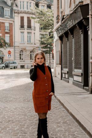 Comment porter le velours côtelé ? - 3 façons de porter le velours côtelé en automne avec 3 idées de looks facile à reproduire - Blog Mangue Poudrée - Blog mode et lifestyle à Reims influenceuse - 15