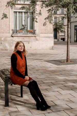 Comment porter le velours côtelé ? - 3 façons de porter le velours côtelé en automne avec 3 idées de looks facile à reproduire - Blog Mangue Poudrée - Blog mode et lifestyle à Reims influenceuse - 16