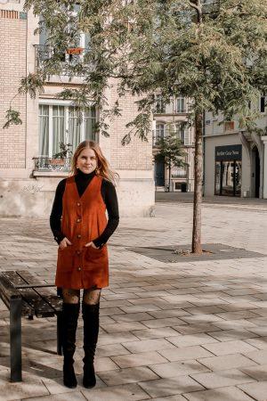 Comment porter le velours côtelé ? - 3 façons de porter le velours côtelé en automne avec 3 idées de looks facile à reproduire - Blog Mangue Poudrée - Blog mode et lifestyle à Reims influenceuse - 17