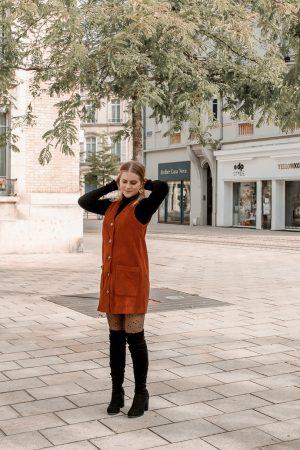 Comment porter le velours côtelé ? - 3 façons de porter le velours côtelé en automne avec 3 idées de looks facile à reproduire - Blog Mangue Poudrée - Blog mode et lifestyle à Reims influenceuse - 20