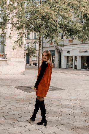 Comment porter le velours côtelé ? - 3 façons de porter le velours côtelé en automne avec 3 idées de looks facile à reproduire - Blog Mangue Poudrée - Blog mode et lifestyle à Reims influenceuse - 24