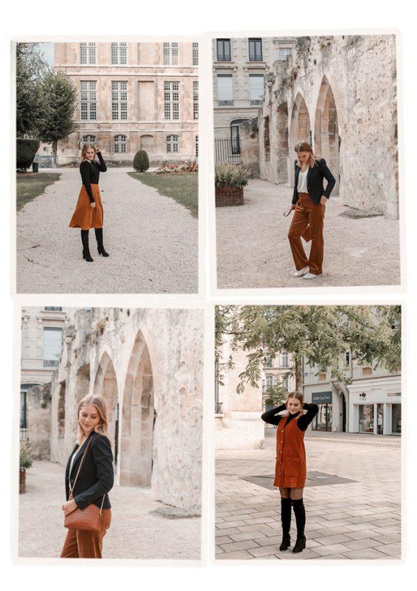 3 façons de porter le velours côtelé en automne