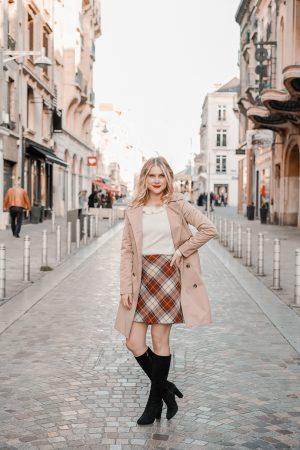 La jupe tartan parfaite pour l'automne hiver - Blog Mangue Poudrée - Blog mode et lifestyle à Paris et Reims - 01