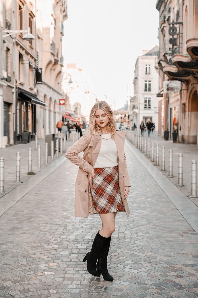 La jupe tartan parfaite pour l'automne hiver - Blog Mangue Poudrée - Blog mode et lifestyle à Paris et Reims - 02