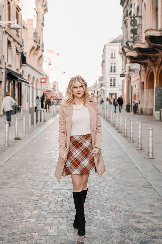 La jupe tartan parfaite pour l'automne hiver - Blog Mangue Poudrée - Blog mode et lifestyle à Paris et Reims - 03