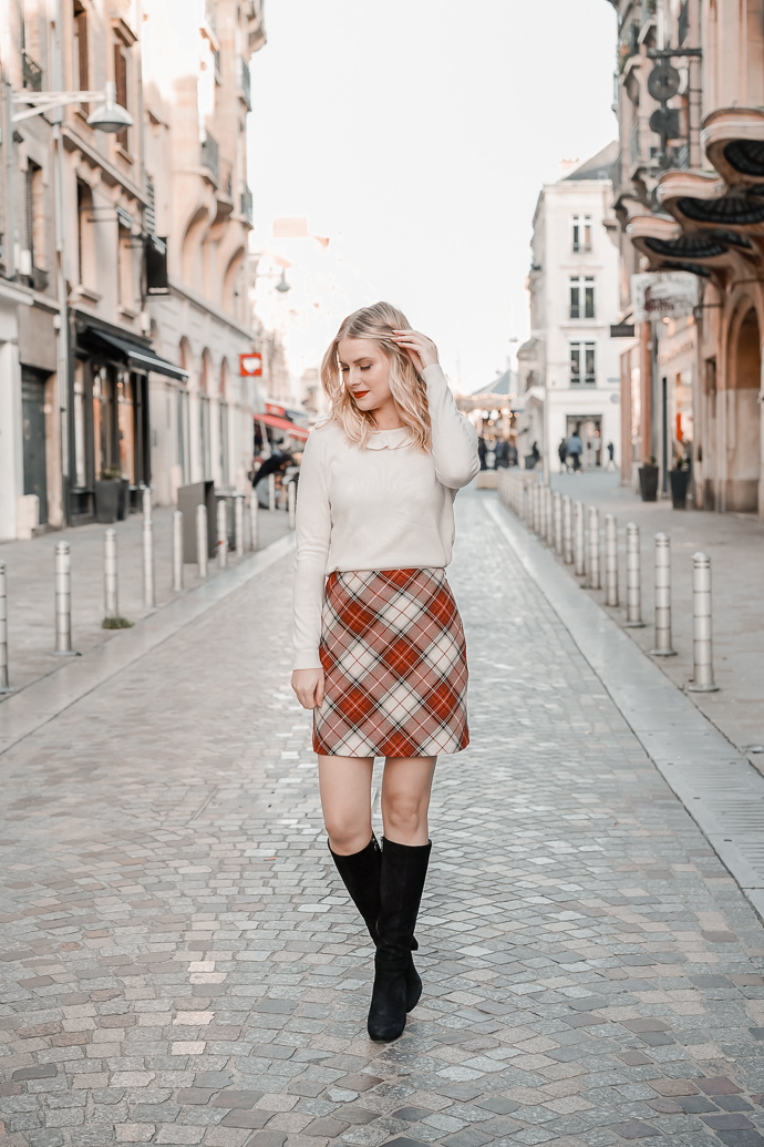 La jupe tartan parfaite pour l'automne hiver - Blog Mangue Poudrée - Blog mode et lifestyle à Paris et Reims - 05