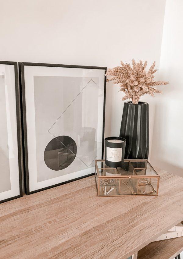 Aperçu de notre déco minimaliste avec les affiches Desenio