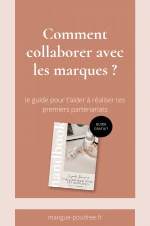 Comment collaborer avec les marques guide e-book - Blog Mangue Poudree - Blog mode et lifestyle a reims paris influenceuse - pinterest 03