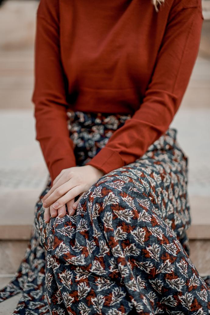 Comment porter la jupe longue en hiver - Blog Mangue Poudrée - Blog mode et lifestyle à Reims Paris influenceuse