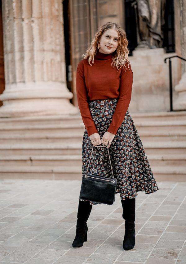 Comment porter la jupe longue en hiver ?