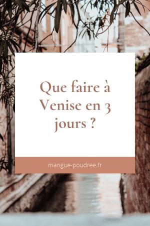 Que faire à venise en 3 jours - Blog Mangue Poudrée - Blog beauté, mode et lifestyle à Reims paris influenceuse - Pinterest 01
