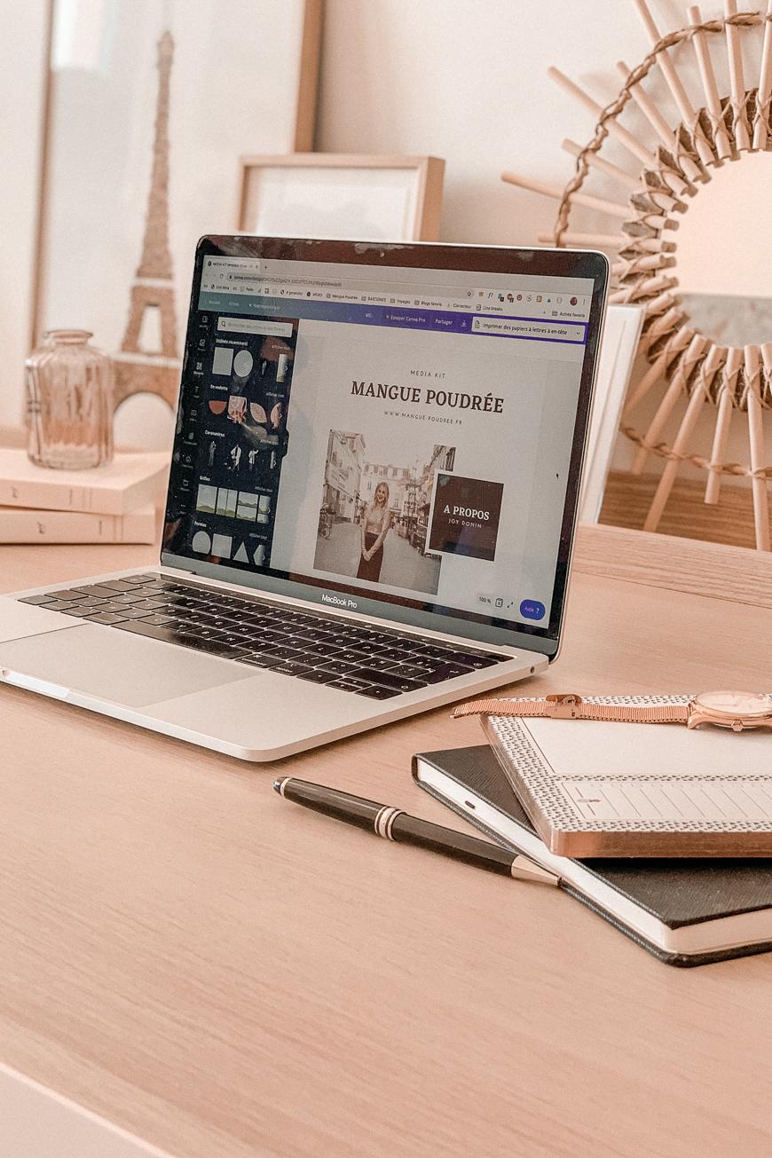 Comment créer un kit média percutant ? Téléchargez votre template pour Canva - Mangue Poudrée - Blog mode Paris2