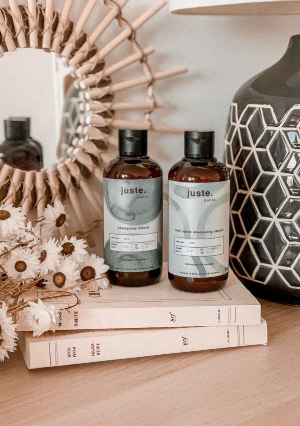 Shampooing et après-shampooing Juste Paris - Les Cinq Petites Choses #16 - Blog Mangue Poudrée - Blog Mode et Lifestyle à Reims Paris influenceuse