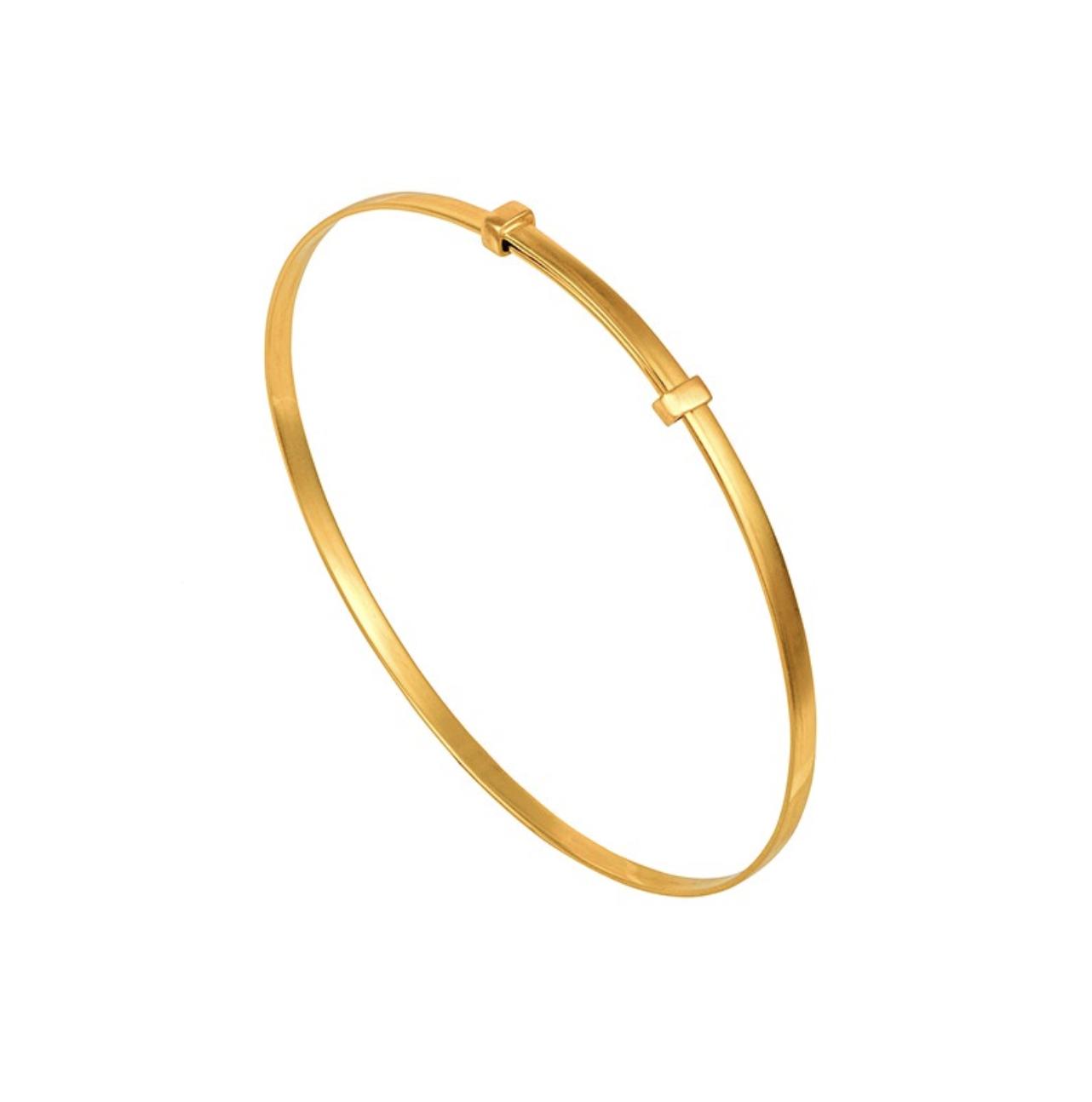 Comment porter le bracelet jonc en or 18 carats - Mangue Poudrée - Influenceuse Reims Paris Lille or reglable