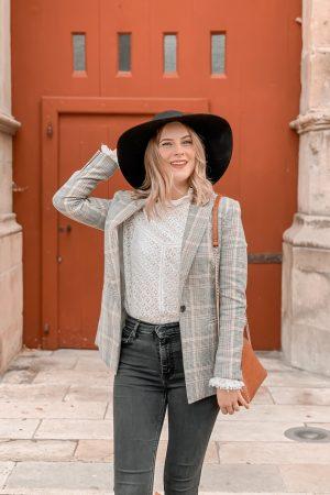 Comment porter la blouse en dentelle blanche ? #1piece3looks - Mangue Poudrée - 6