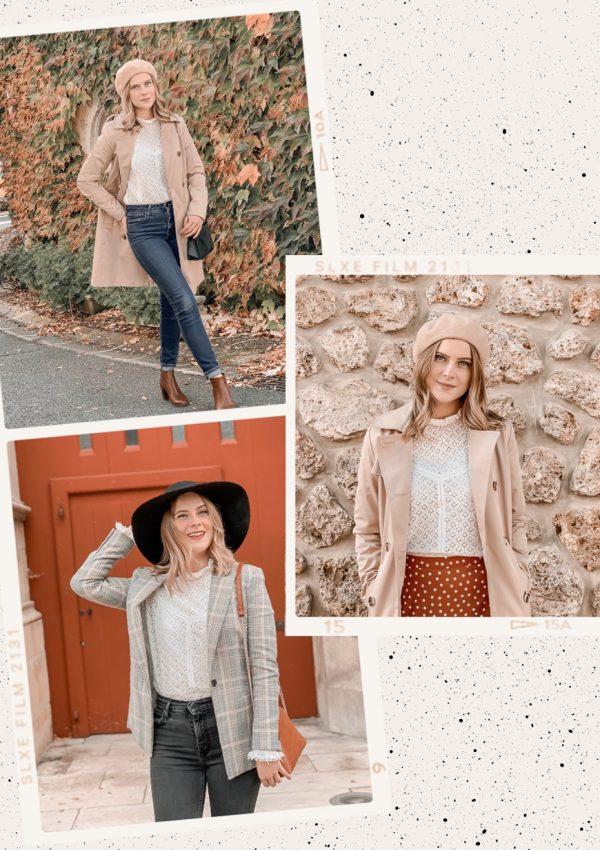 Comment porter la blouse blanche en dentelle ? #1piece3looks