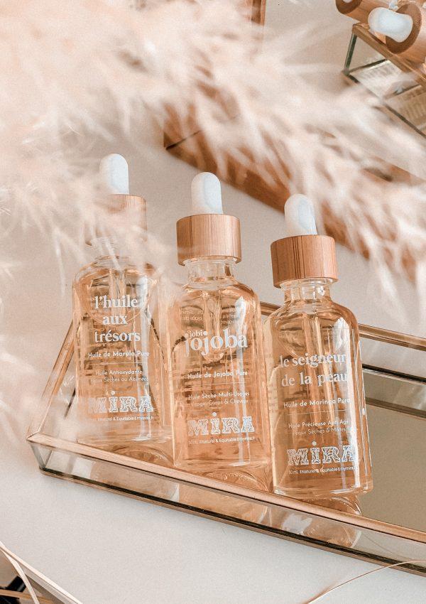 Avis huiles Mira huiles végétales et essentielles naturelles - peaux sensibles imperfections - Blog Mangue Poudrée - Influenceuse Luxe Reims Paris - 1