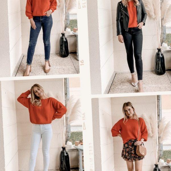 Comment porter le pull rouge 5 looks - Blog Mangue Poudrée - Mode et luxe à Reims - 5